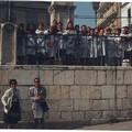 8 Maggio 1992 : classe femminile  in visita all'obelisco della Immacolata