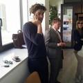 Riccardo Scamarcio in tribunale a Trani