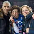 Stefania Sansonna con il papà Domenico e mamma Immacolata