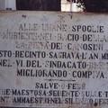 Lapide monumentale Camposanto Canosa