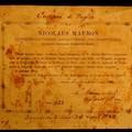 Pergamena sigillata del 1893