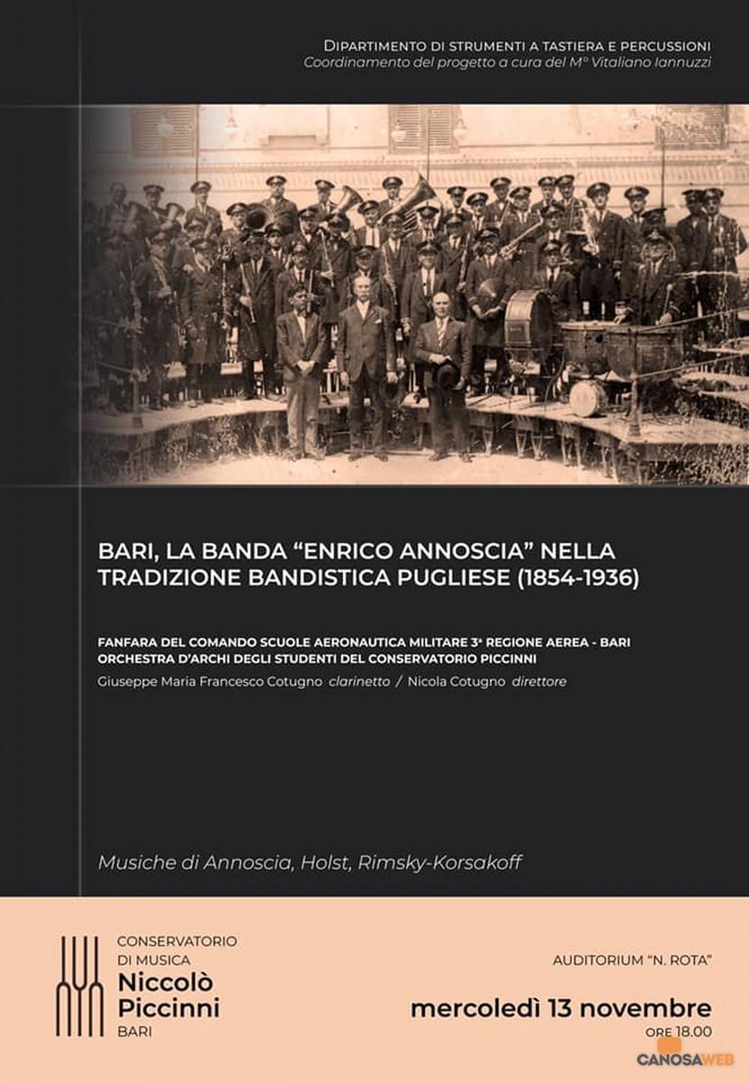 Bari La Banda Enrico Annoscia nella tradizione bandistica pugliese(1854 – 1936)