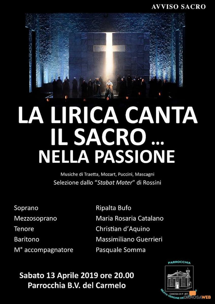 La lirica canta il sacro…nella passione 2019- Canosa di Puglia(BT)