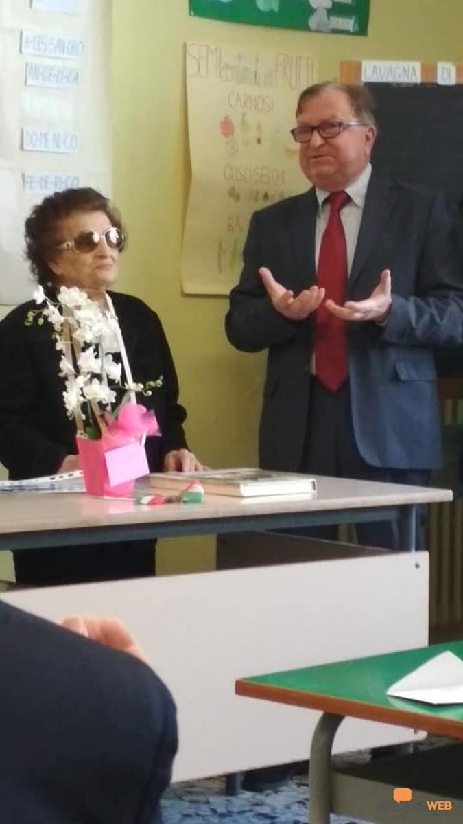 Salvatore Paulicelli e la professoressa Ada Affatato