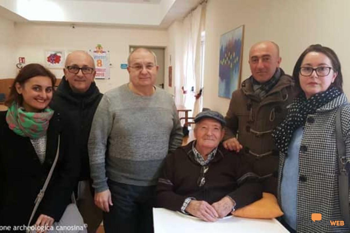 Vittorio Emanuele Cannone con i  familiari e Sabino Silvestri della FAC - 2019