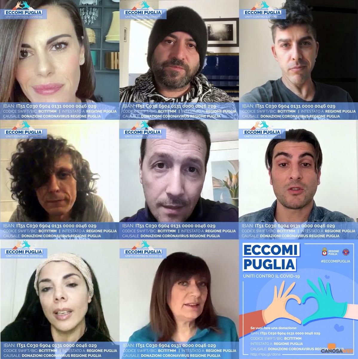 ECCOMI PUGLIA. Uniti contro il COVID19