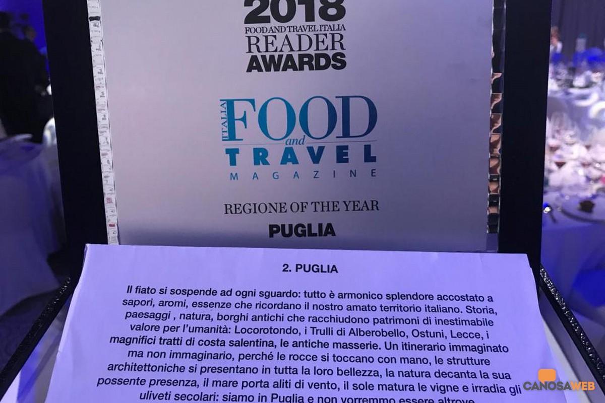 """La Puglia è la """"Regione of the Year"""""""