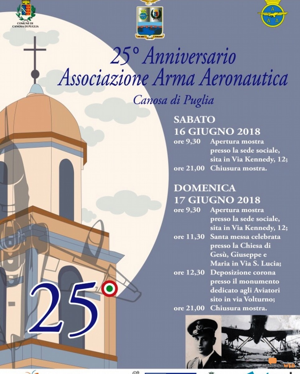 25° di fondazione dell'Associazione Arma Aeronautica -Sezione di Canosa