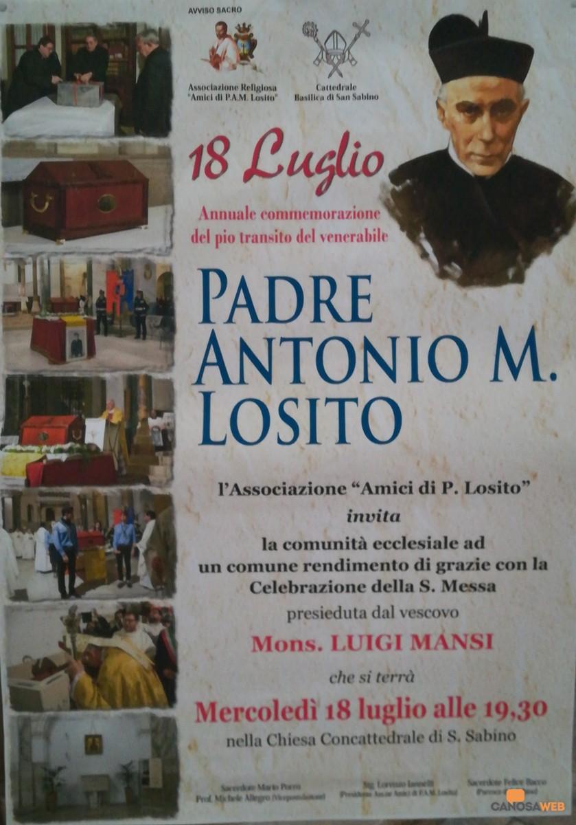 Commemorazione del Venerabile Padre Antonio Maria Losito 2018
