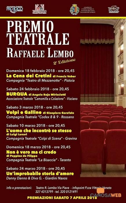 """II Edizione Premio  Teatrale """"Raffaele Lembo"""""""