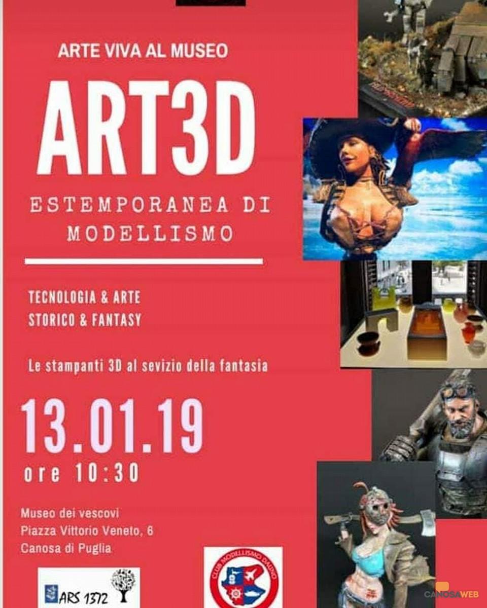 "Estemporanea di modellismo ""Arte viva al Museo – Art3D"" Canosa"