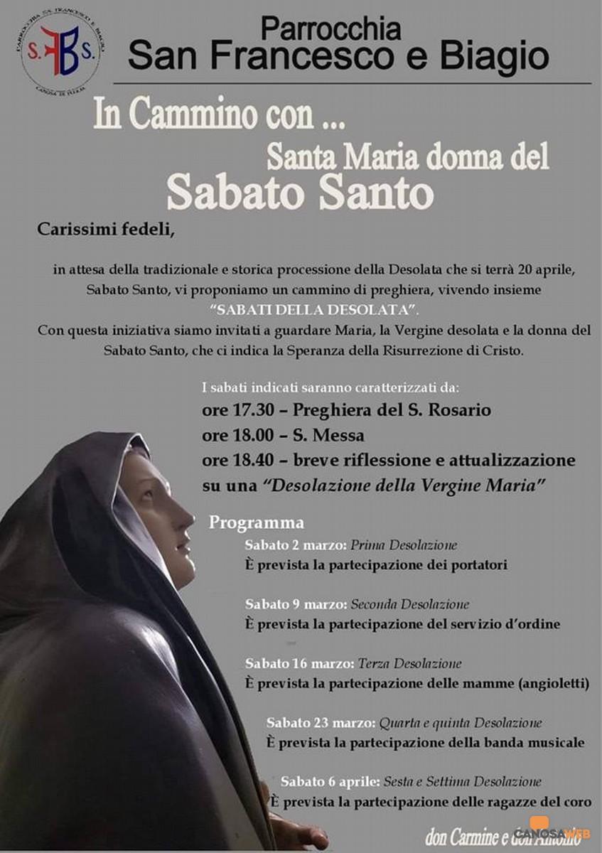 In Cammino con... Santa Maria donna del Sabato Santo  Canosa di Puglia