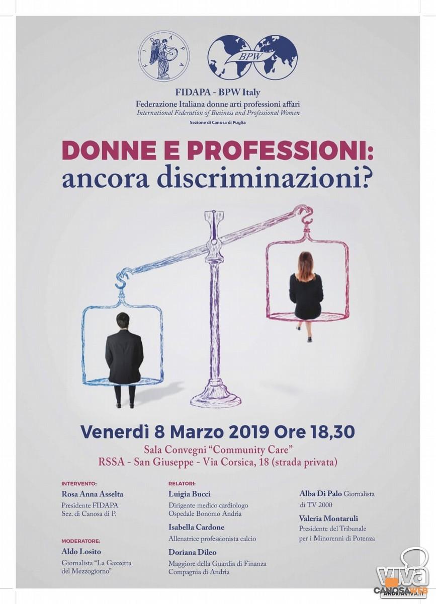 Donne e professioni: ancora discriminazioni?-FIDAPA -BPW Italy di Canosa