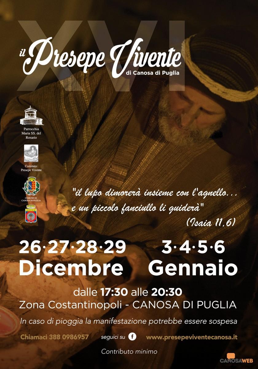 PRESEPE VIVENTE CANOSA DI PUGLIA(BT) 2019-2020