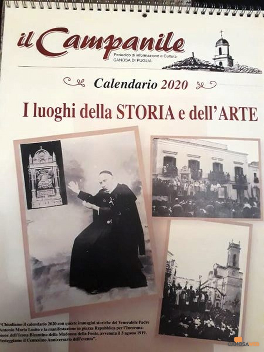 """il Calendario 2020  """"I luoghi della STORIA e dell'ARTE"""" Il Campanile Canosa"""
