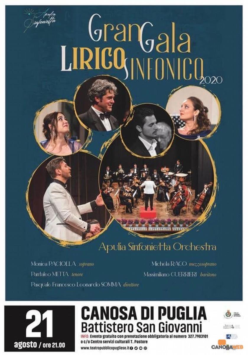 Canosa di Puglia:  Gran Gala Lirico Sinfonico 2020