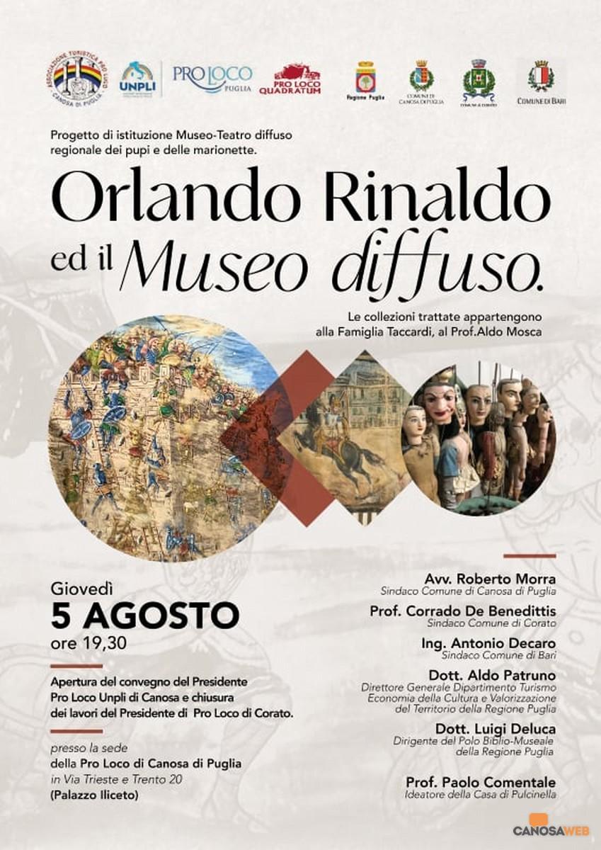 Canosa: Orlando Rinaldo ed il Museo diffuso
