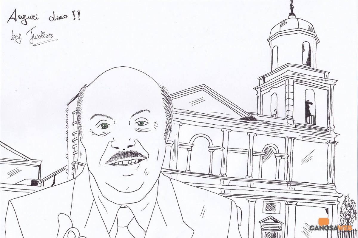 Vignetta di Giuseppe Murante dedicata a Lino Banfi