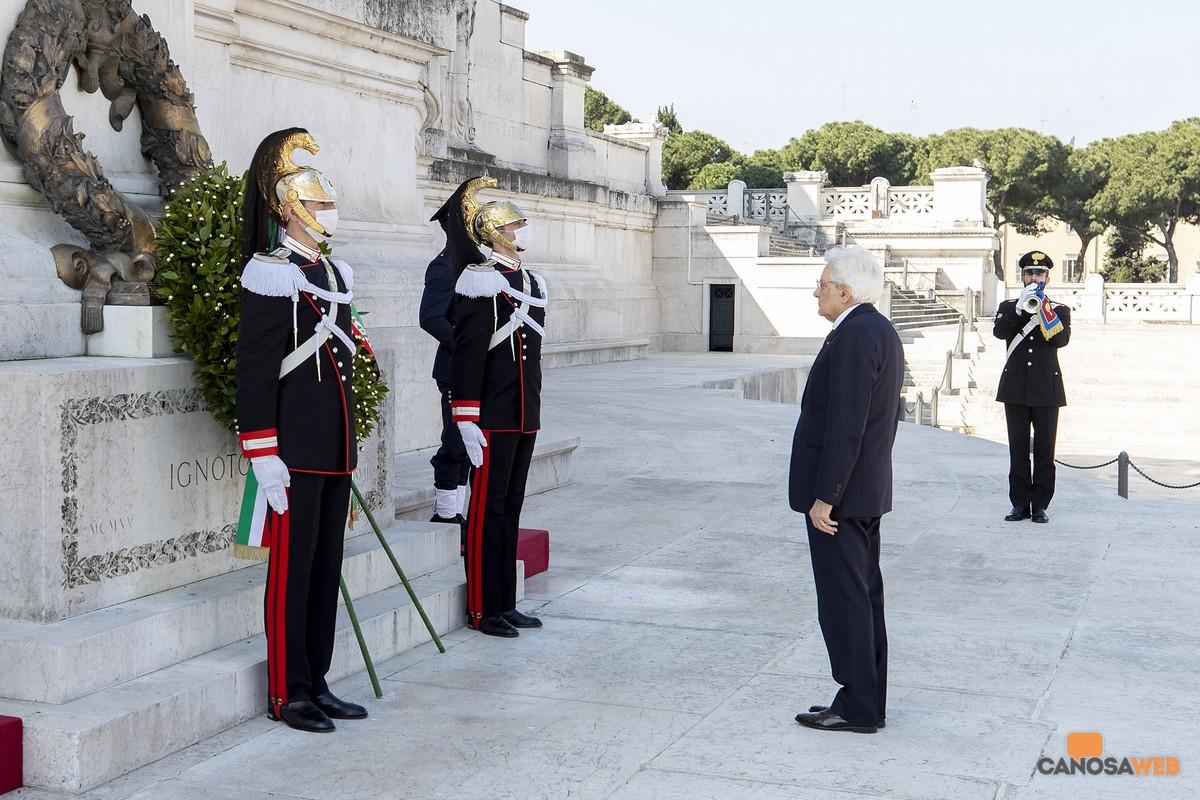 Roma 25 aprile 2020 Presidente Mattarella
