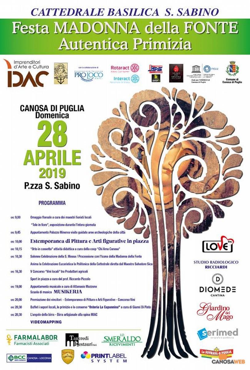 Festa della Madonna della Fonte Autentica Primizia 2019 Canosa di Puglia(BT)