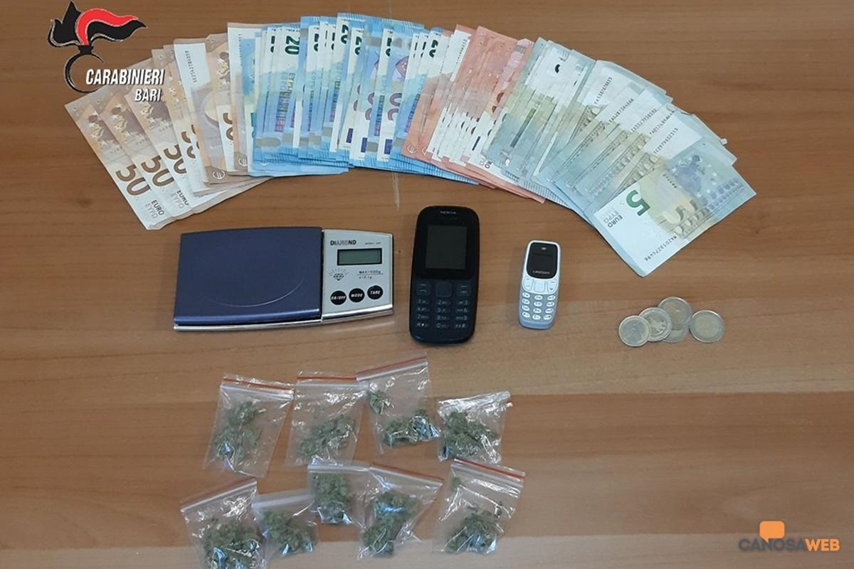 Carabinieri : 2 arresti per spaccio di sostanze stupefacenti