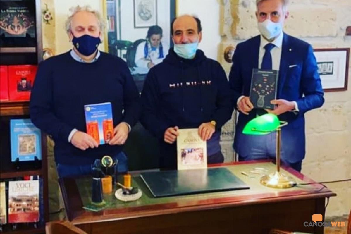 Canosa: Enzo Princigalli Franco Pastore  Presidente FAC Sergio Fontana