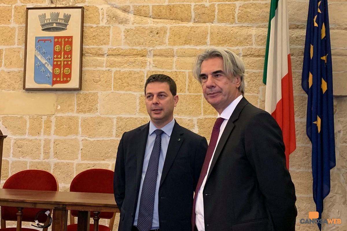 Il sindaco Roberto Morra e il Prefetto Maurizio Valiante
