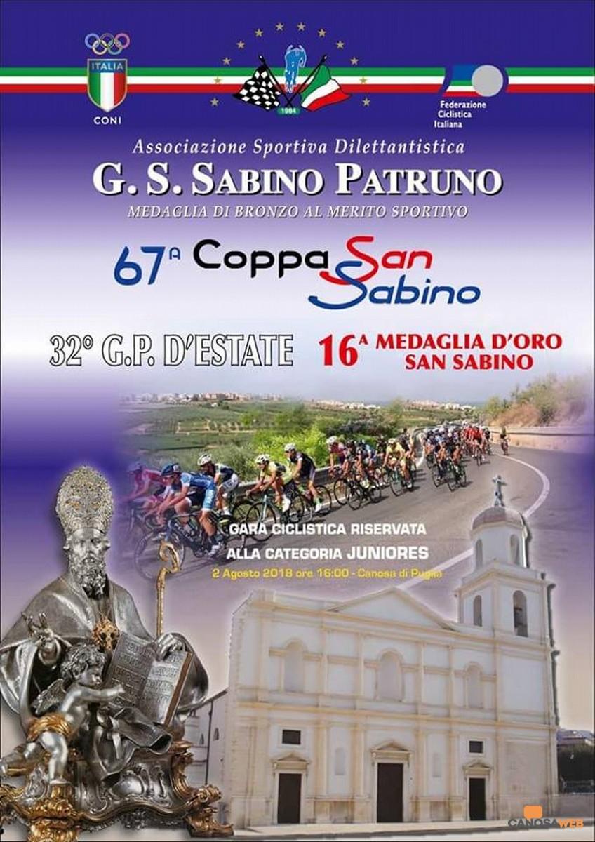 67^ Coppa San Sabino - 32° G.P.D'Estate -  16^ Medaglia d'Oro San Sabino