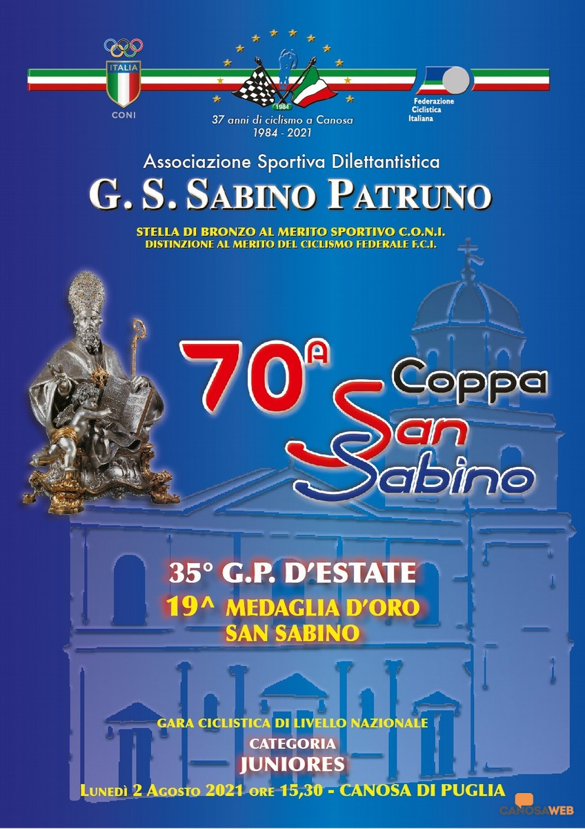 Canosa di Puglia: 70^ Edizione Coppa San Sabino