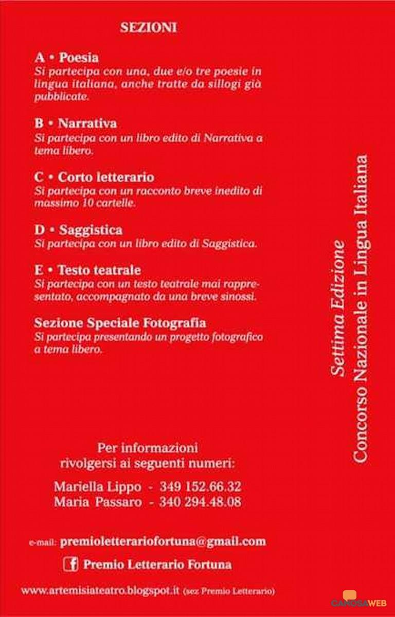 2021- Premio Letterario Fortuna - 7^ Edizione