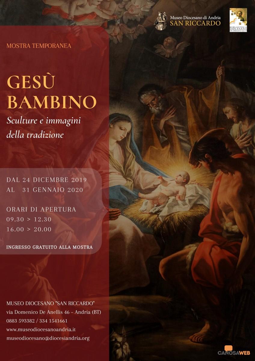 """Museo Diocesano Andria: """"Gesù Bambino, sculture e immagini della tradizione"""""""