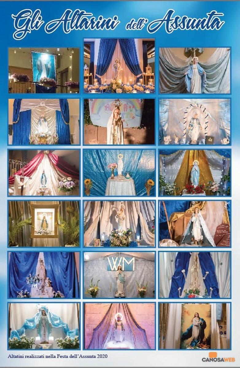 Canosa: Gli altarini di strada per l'Assunta