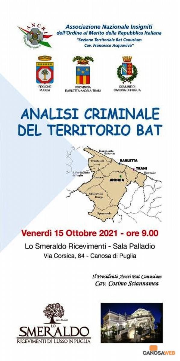 Analisi criminale del territorio BAT