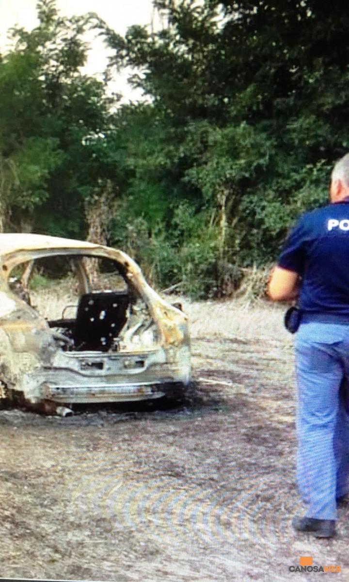 Polizia di Stato auto incendiata
