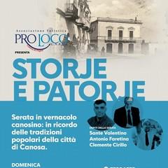 """Pro Loco Canosa """"Storie e Patorje"""" Estate 2019"""