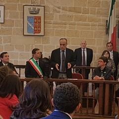 Il Ministro Bonisoli nella Sala Consiliare a  Canosa