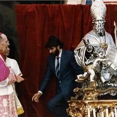 Canosa, 22 luglio 1985:  inaugurazione del busto di San Sabino