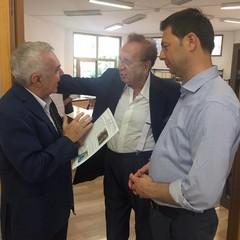Giuseppe Di Nunno, Michele  Mirabella e il Sindaco Roberto Morra