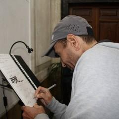 Giorgio Calcaterra in visita al Museo dei Vescovi Canosa
