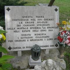 Cimitero Canosa tomba deceduti per la spagnola
