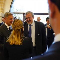 Emiliano con delegazione governo albanese presso Farmalabor Canosa