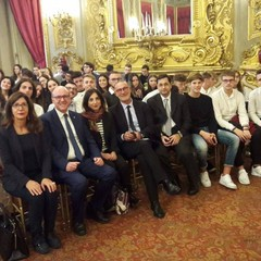 """Delegazione  Liceo """"E.Fermi"""" di Canosa  al Quirinale Roma"""