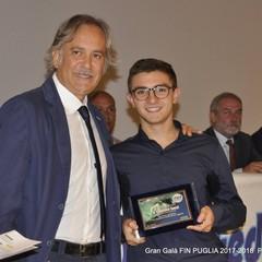 Gran Galà FIN Puglia premiato Ludovico Sassi