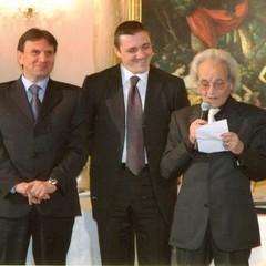 Savino Losmargiasso con il sindaco Ventola e l'assessore Marcovecchio