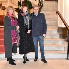 Lucrezia Massari  con i genitori  al Museo dei Vescovi