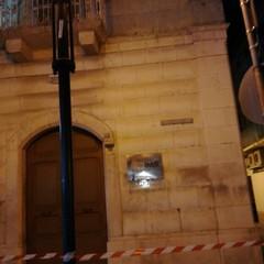 Canosa  Crollo di calcinacci da Palazzo Sinesi