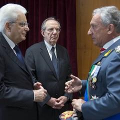 Presidente Mattarella e Generale Toschi