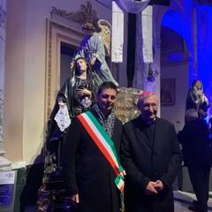 Arcivescovo Taranto, Mons.Filippo Santoro e sindaco di Canosa Roberto Morra