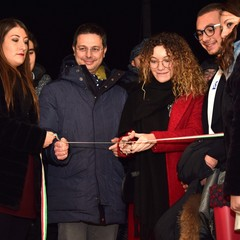 Maria Laura Zagaria, sindaco Roberto Morra - Cerbero  inaugurazione 20/12/18