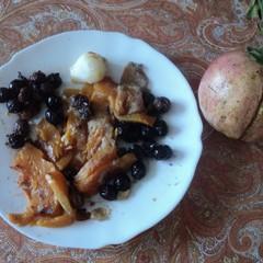 Zucca e olive nere